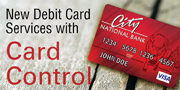 New Debit Card services with Card Control. Read more about Card Control.